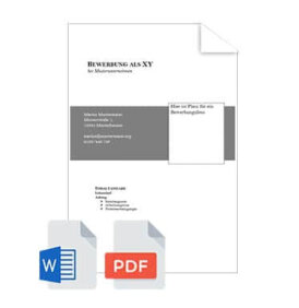 Bewerbungsunterlagen Deckblatt Bewerbung Vorlage