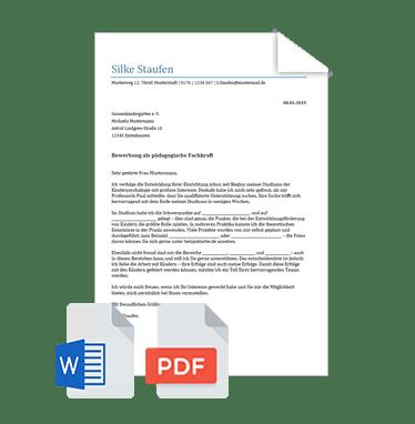 Initiativbewerbung Muster Vorlagen Bewerbung