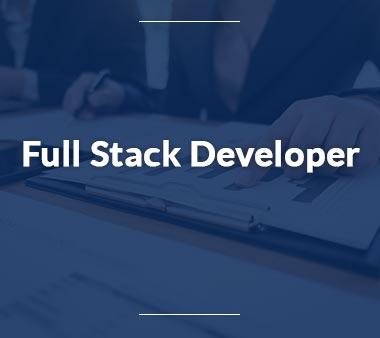Full Stack Developer Bürojobs