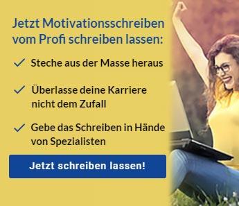 Motivationsschreiben schreiben lassen