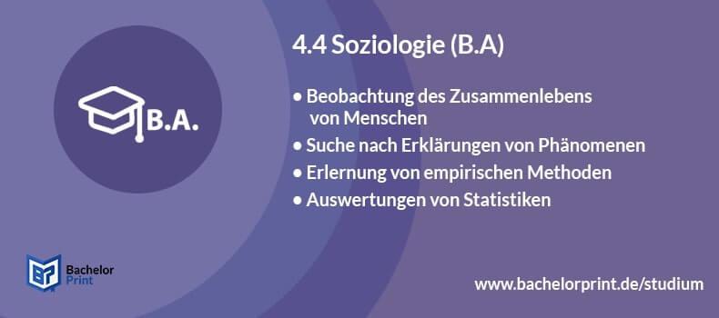 Bachelor of Arts Soziologie studieren