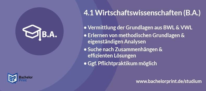 Bachelor of Arts Wirtschaftswissenschaften Wiwi