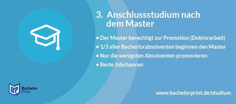 Masterstudium Promotion