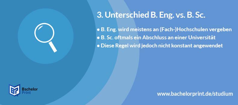Bachelor of Engineering Unterschied B. Sc.