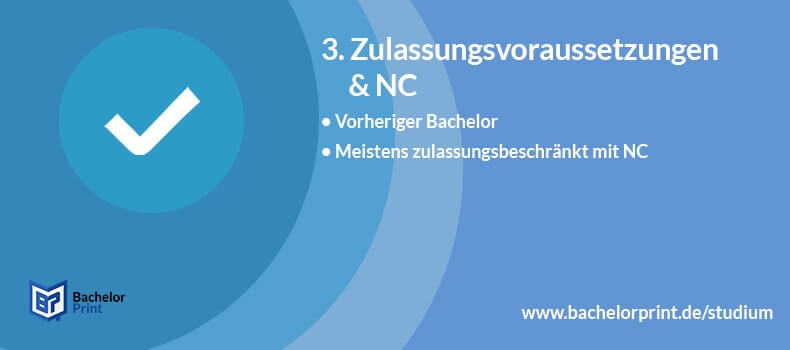 Master of Education Zulassungsvoraussetzungen NC
