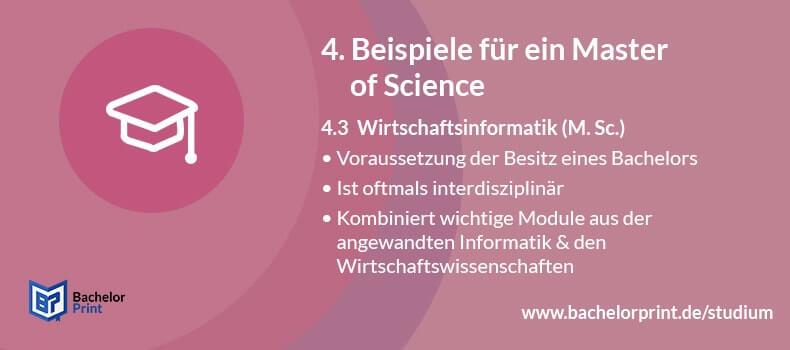 Master of Science Wirtschaftsinformatik
