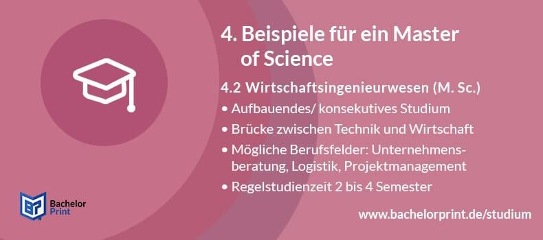 Master of Science Wirtschaftsingenieurwesen