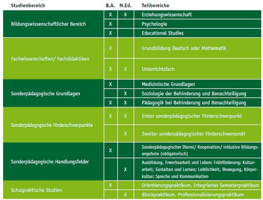 Studieninhalte des Sonderpädagogik Studiums in der PH Ludwigsburg